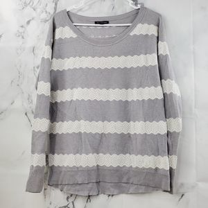 !SALE 3FOR20! AEO Scoop Neck Lace Long Sleeve Top